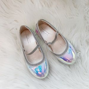 Children's Place Shiny Silver Flats